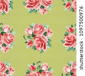 seamless floral pattern with... | Shutterstock .eps vector #1097500976
