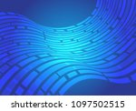 abstract blue line wave data... | Shutterstock .eps vector #1097502515