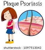 a vector of girl plaque...   Shutterstock .eps vector #1097513042