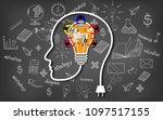 human head creativity...   Shutterstock .eps vector #1097517155