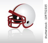 football helmets   white | Shutterstock .eps vector #109752335