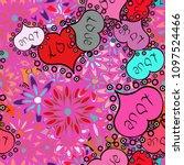 love romantic theme. design for ... | Shutterstock .eps vector #1097524466