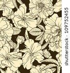 floral seamless pattern on dark ... | Shutterstock .eps vector #109752455