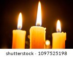 locked candles. mourning.... | Shutterstock . vector #1097525198