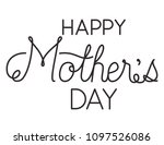 happy mothers day typography... | Shutterstock .eps vector #1097526086