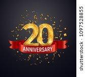 20 years anniversary logo... | Shutterstock .eps vector #1097528855