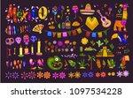 big vector set of mexico... | Shutterstock .eps vector #1097534228