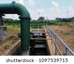 raw water pumping station | Shutterstock . vector #1097539715