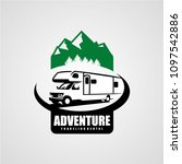 adventure rv camper car logo... | Shutterstock .eps vector #1097542886