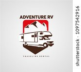 adventure rv camper car logo... | Shutterstock .eps vector #1097542916