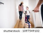 young family with two children... | Shutterstock . vector #1097549102