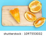 piece of orange cake | Shutterstock . vector #1097553032