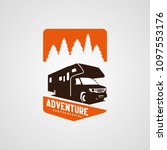 adventure rv camper car logo... | Shutterstock .eps vector #1097553176