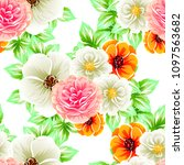 abstract elegance seamless... | Shutterstock . vector #1097563682