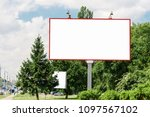 billboard  billboard  canvas... | Shutterstock . vector #1097567102