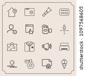modern  simple vector icon set...   Shutterstock .eps vector #1097568605