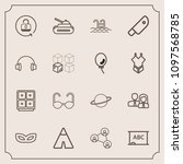 modern  simple vector icon set... | Shutterstock .eps vector #1097568785