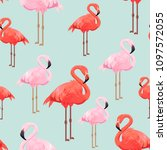 seamless pattern with red and... | Shutterstock .eps vector #1097572055