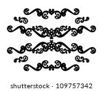 floral elements ornaments. | Shutterstock .eps vector #109757342