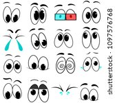 eyes emotion vector set | Shutterstock .eps vector #1097576768