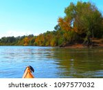 bow of yellow kayak. kayaking... | Shutterstock . vector #1097577032