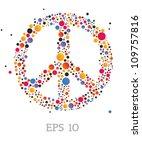 peace sign | Shutterstock .eps vector #109757816