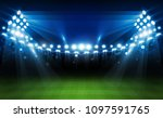 football arena field with... | Shutterstock .eps vector #1097591765