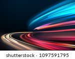 vector image of colorful light... | Shutterstock .eps vector #1097591795