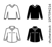 man ware  clothes linear icons... | Shutterstock .eps vector #1097594216