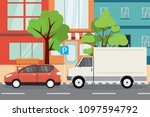 town parking place empty city... | Shutterstock .eps vector #1097594792