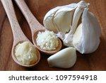 garlic  aomori prefecture garlic | Shutterstock . vector #1097594918