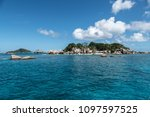 little beautiful coco island in ... | Shutterstock . vector #1097597525
