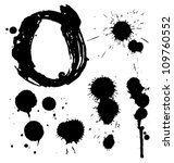 dripping inkblot paint... | Shutterstock .eps vector #109760552