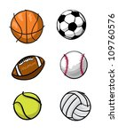 various illustrations of sports ... | Shutterstock .eps vector #109760576