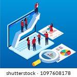 business development and... | Shutterstock .eps vector #1097608178