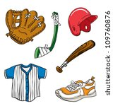 various cartoon sports... | Shutterstock .eps vector #109760876