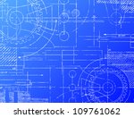 grungy technical blueprint... | Shutterstock .eps vector #109761062