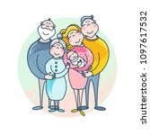mother's and father's day.... | Shutterstock .eps vector #1097617532