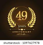 49th gold anniversary...   Shutterstock .eps vector #1097627978