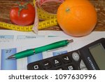 fruits and vitamins with...   Shutterstock . vector #1097630996