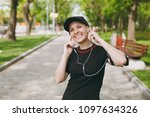 young smiling athletic...   Shutterstock . vector #1097634326
