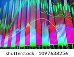 bright glowing forex chart...   Shutterstock . vector #1097638256