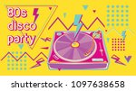 80s disco party funky colorful... | Shutterstock .eps vector #1097638658
