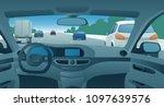 highway viewed from the motor...   Shutterstock .eps vector #1097639576