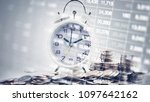 double exposure of graph with...   Shutterstock . vector #1097642162