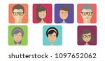 people avatars collection.... | Shutterstock .eps vector #1097652062