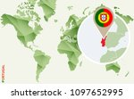 portugal  detailed map of... | Shutterstock . vector #1097652995