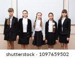 group portrait of happy... | Shutterstock . vector #1097659502
