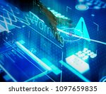 new technology information on a ... | Shutterstock . vector #1097659835