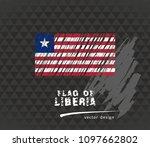 flag of liberia  vector pen... | Shutterstock .eps vector #1097662802